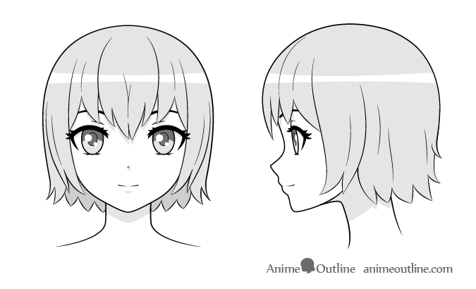 Step  Applying Shading Anime Girl Face Drawing