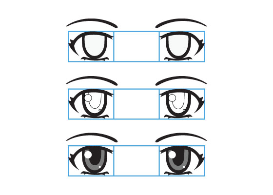 Anime eyes tutorial