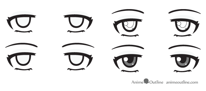 Bored anime eyes
