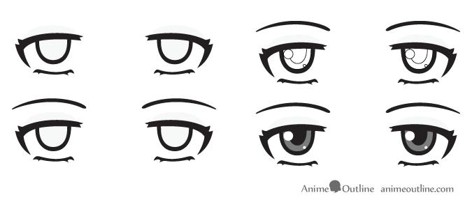 Bored anime eyes
