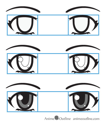How To Draw Anime Eyes And Eye Expressions Tutorial | AnimeOutline