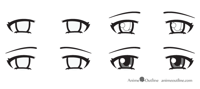 Sad anime eyes
