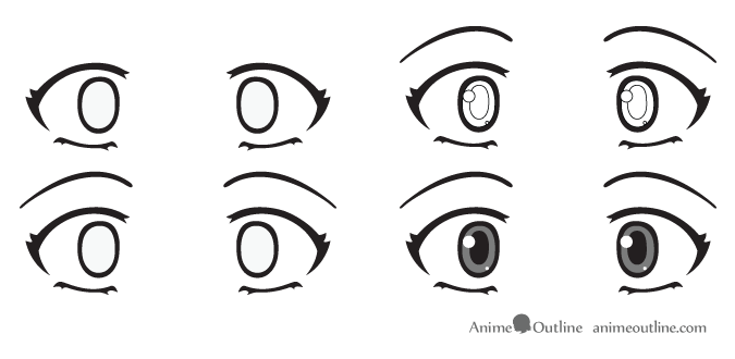 Scared anime eyes