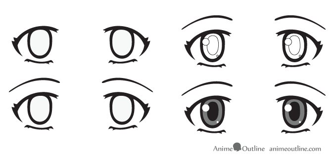 Surprised anime eyes