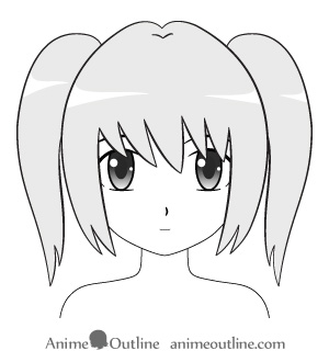 How To Draw Anime Girl Hairstyles Ponytail