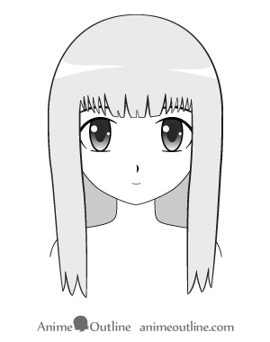 anime trimmed and neat looking female hair