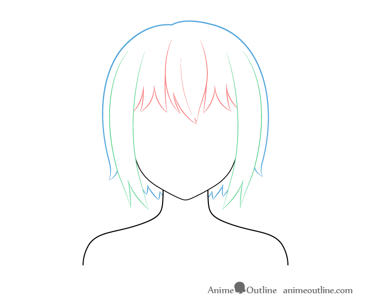 20+ Fantastic Ideas Easy Anime Girl With Short Hair Drawing