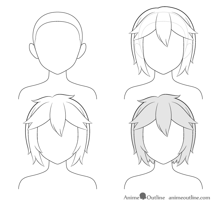 Messy Hair Drawing Male Blog Pendidikan