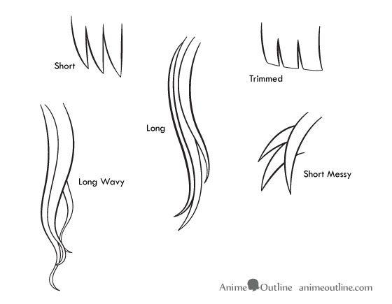 Superb How To Draw Anime And Manga Hair Female Anime Outline Hairstyles For Men Maxibearus