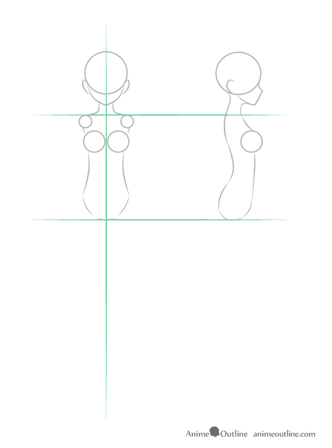 how to draw top front and side view