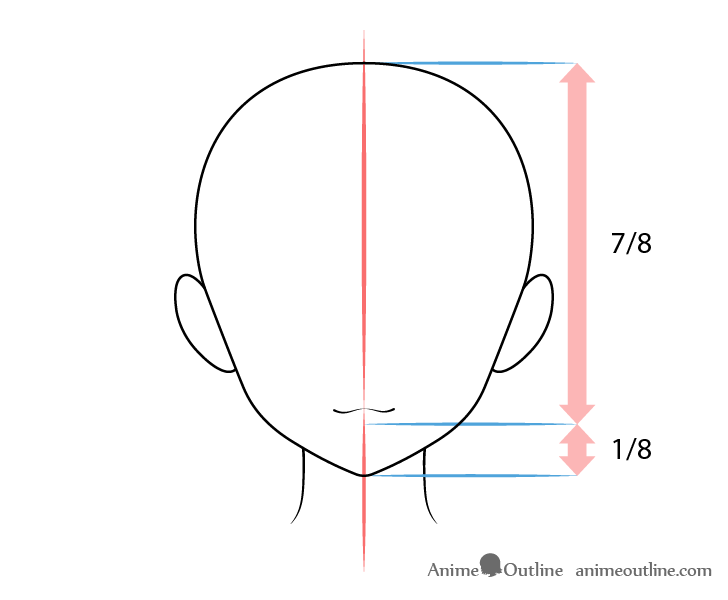 Anime mouth sly expression on head drawing