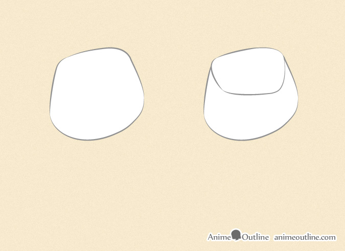 Drawing an anime fist basic shapes