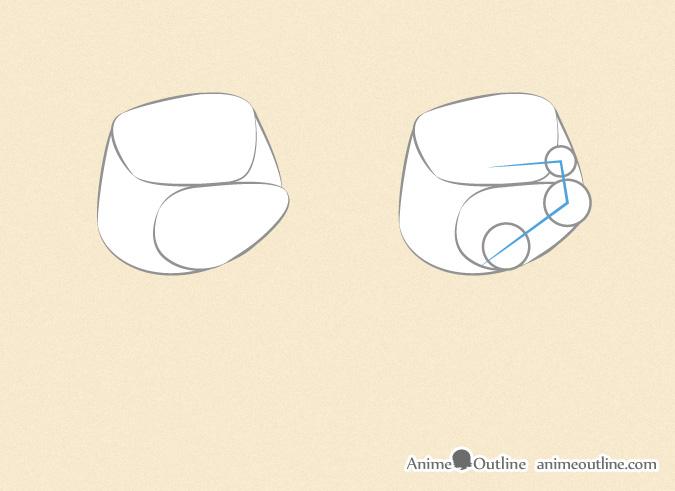 Drawing an anime fist thumb