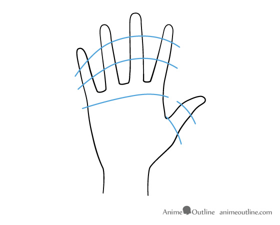 How to Draw Anime Hands Male and Female | Anime Outline