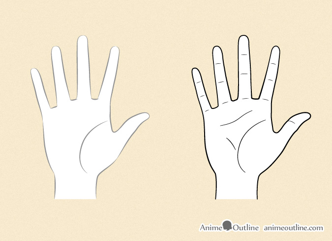 Drawing anime hands details