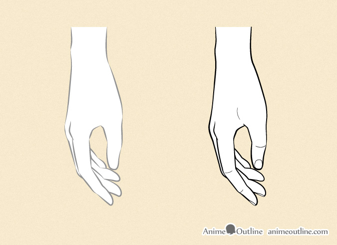 Drawing anime hands side view