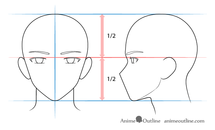 Anime male eyes drawing