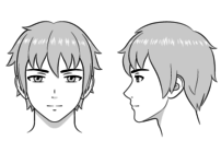 How to Draw Anime and Manga Male Head and Face