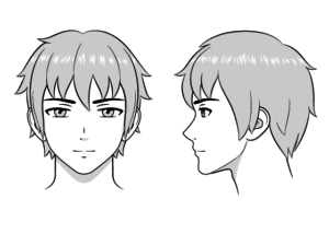 Anime male face
