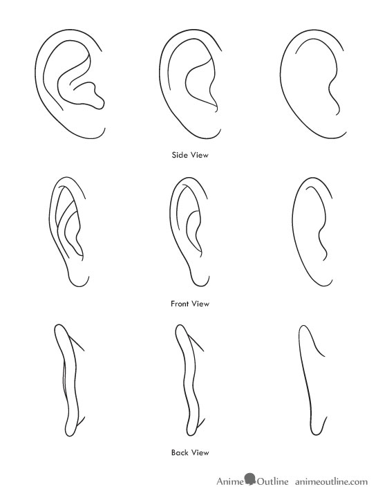 how to draw anime and manga ears