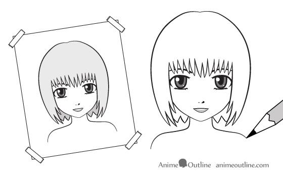 Use reference material when drawing drawing anime