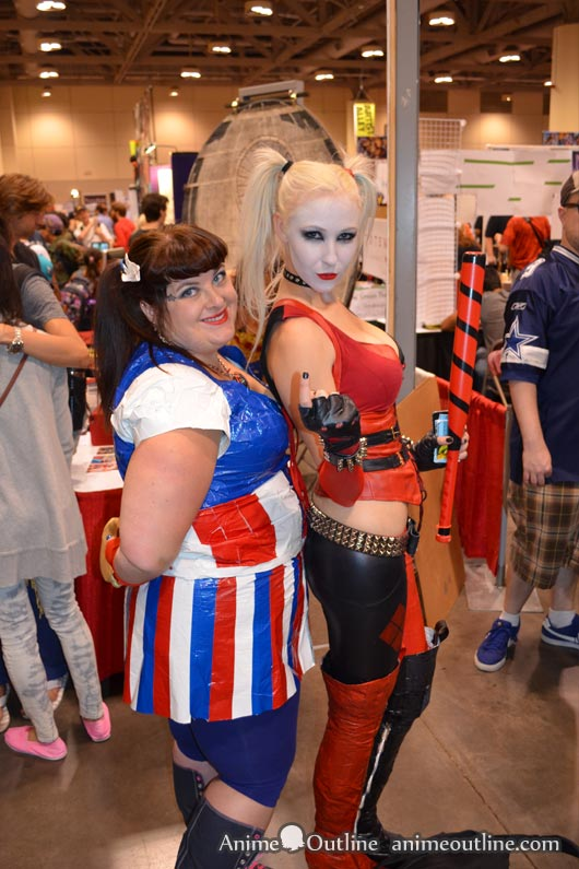 Harley Quinn and Girl Cosplay