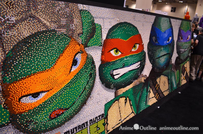 Ninja Turtles Lego Wall