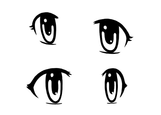 Anime eye views