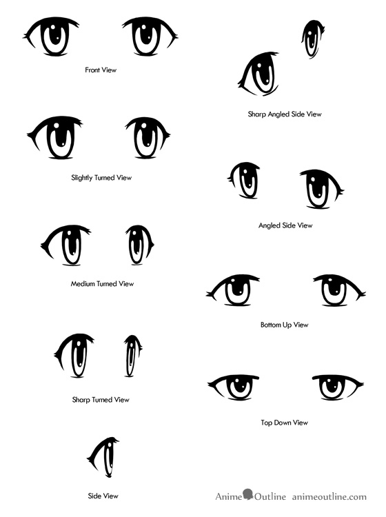 How To Draw Anime Eyes From Different Angles Animeoutline