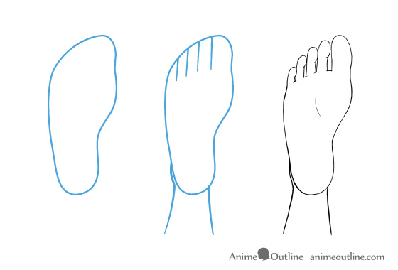 Anime feet drawing bottom view