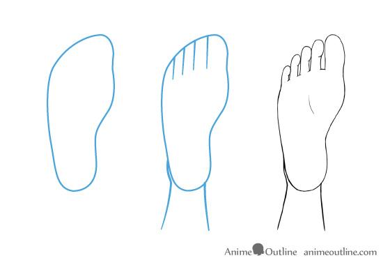 Anime feet drawing bottom view