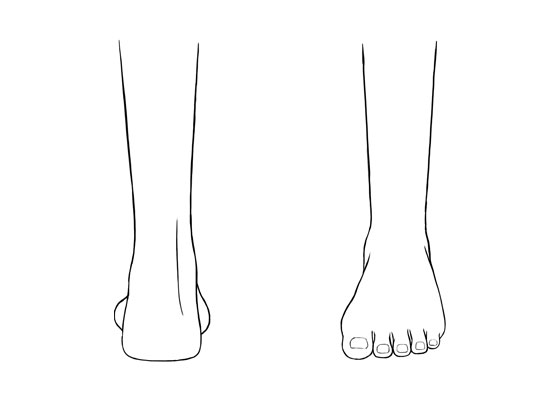 Anime feet drawing