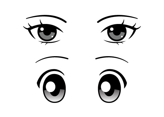 anime eye types
