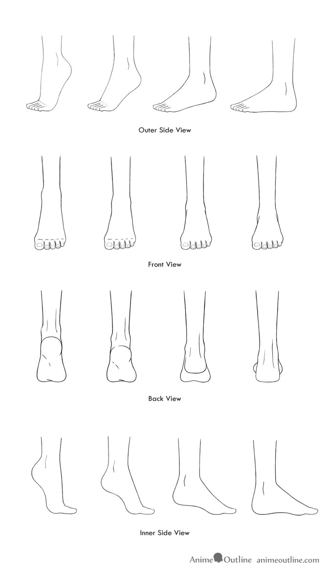 How to Draw Anime and Manga Feet in Different Positions ...