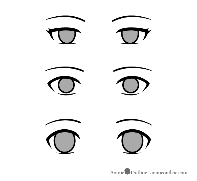 No eye reflections no pupils uncaring anime manga characters