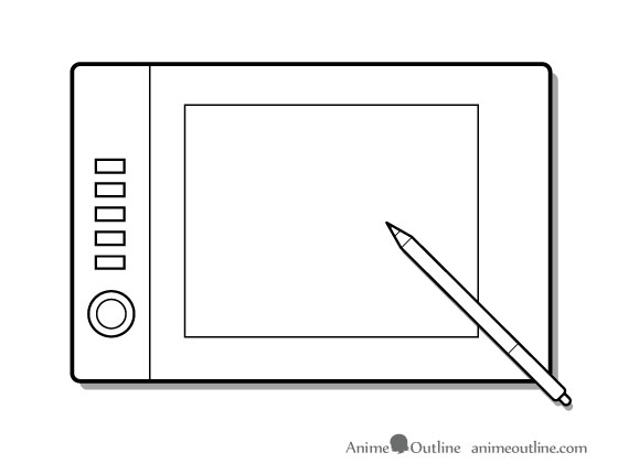 Drawing tablet illustration