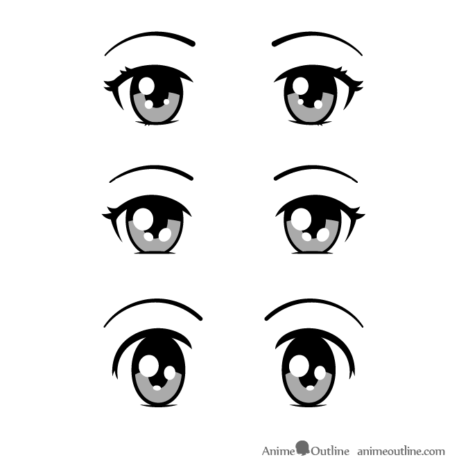 Innocent anime eyes