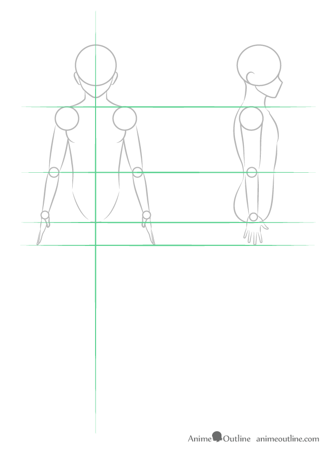 Drawing anime guy arm structure