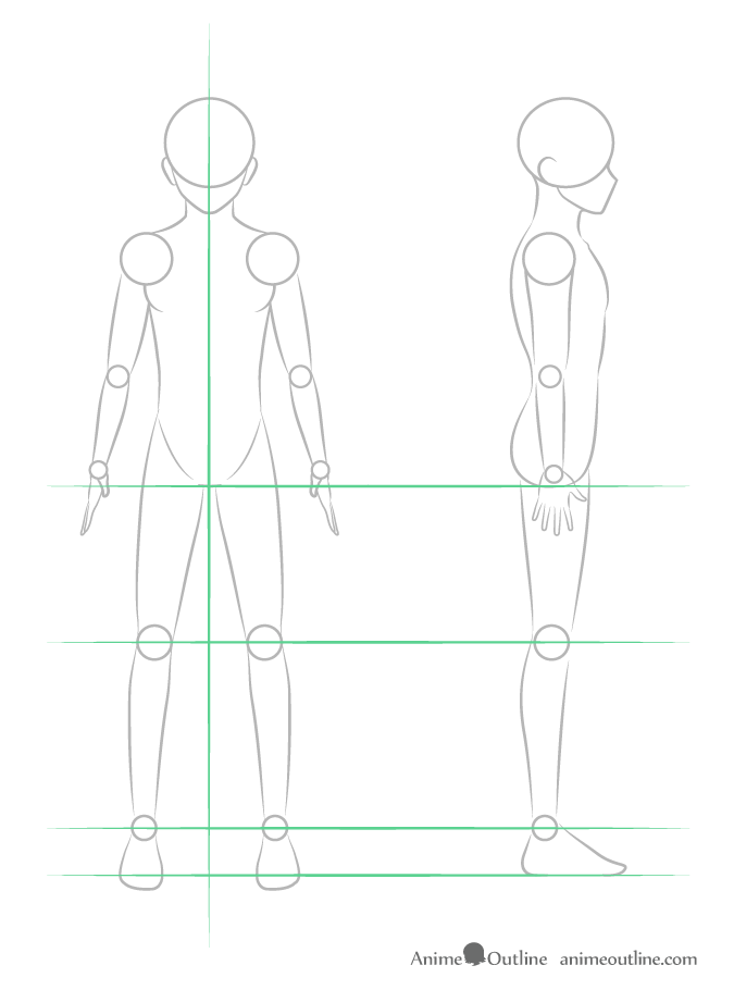 Drawing anime guy leg structure
