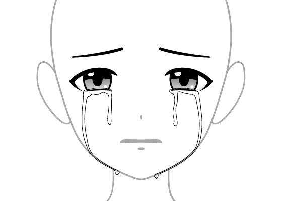 4 Ways To Draw Crying Anime Eyes Tears Animeoutline