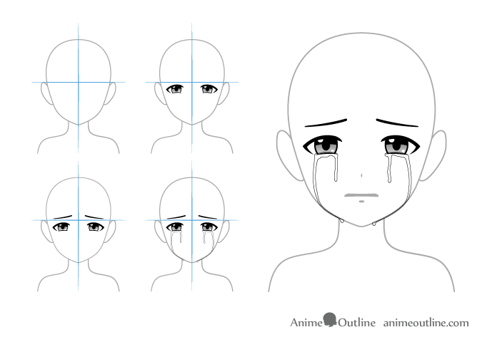 Crying anime eyes drawing crying anime eyes
