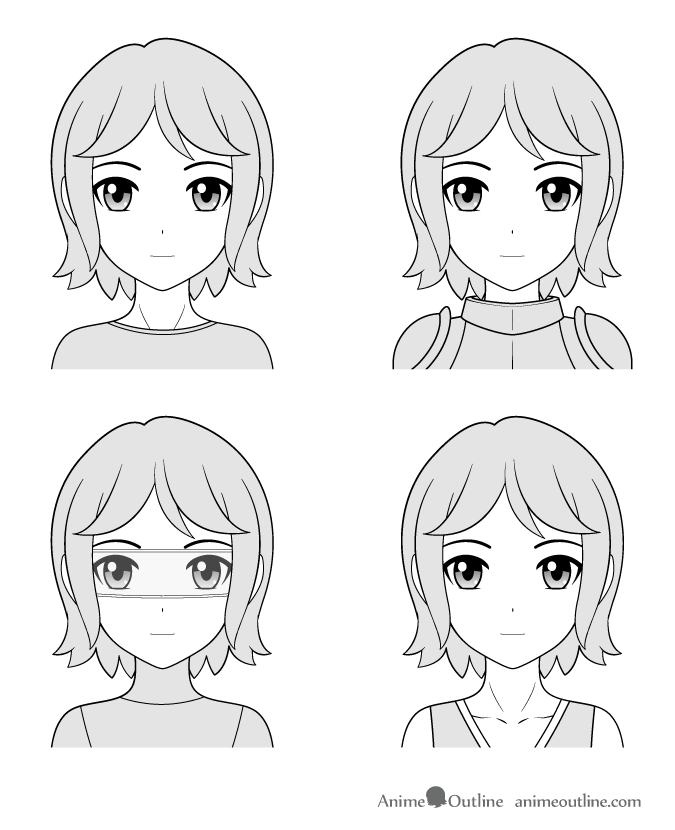 Manga character types, normal, fantasy, sci-fi, historical