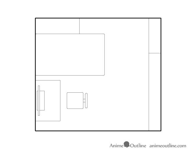 Room plan drawing