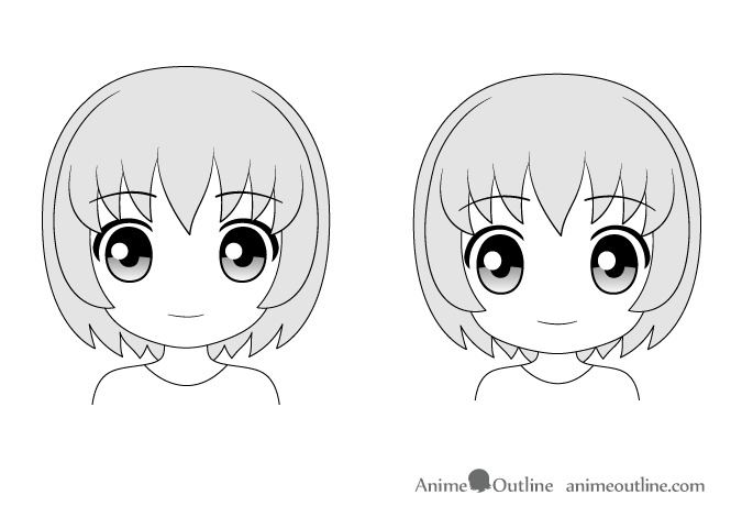 Anime faces Chibi