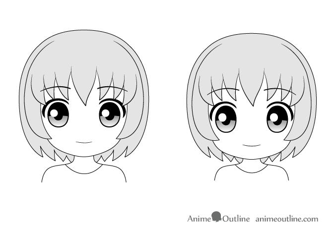 Anime faces Chibi