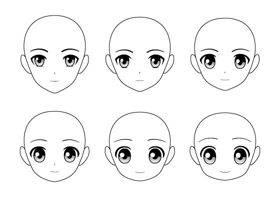 Anime heads