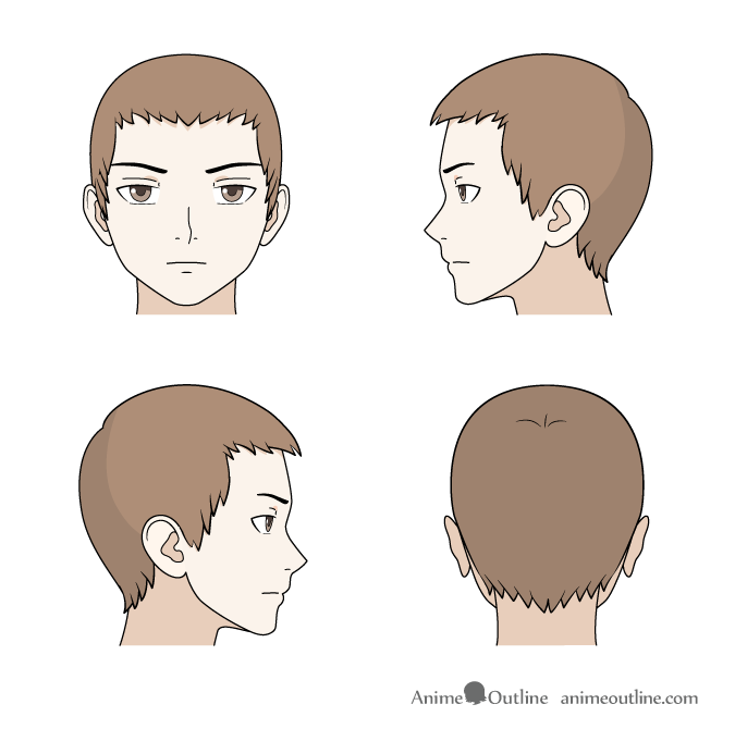 How To Draw Anime Amp Manga Male Amp Female Hair Animeoutline