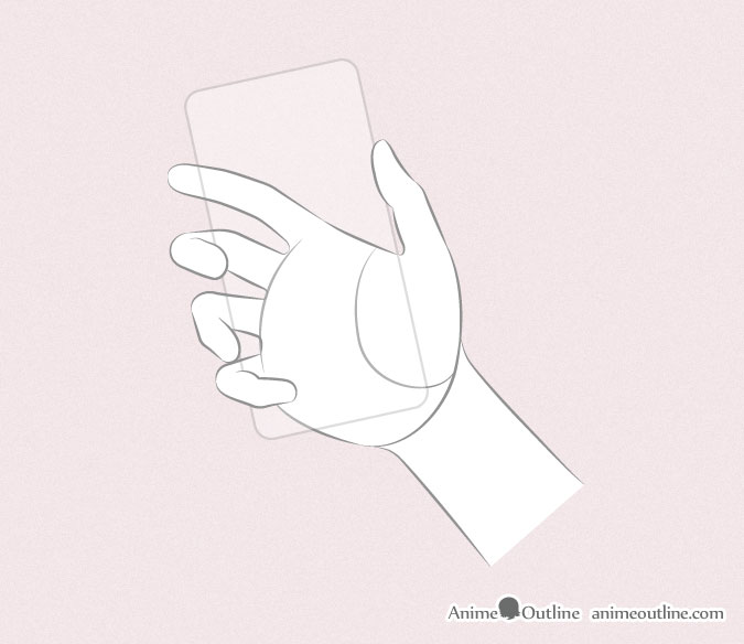6 Ways to Draw Anime Hands Holding Something - AnimeOutlineGrabbing Hand Drawing