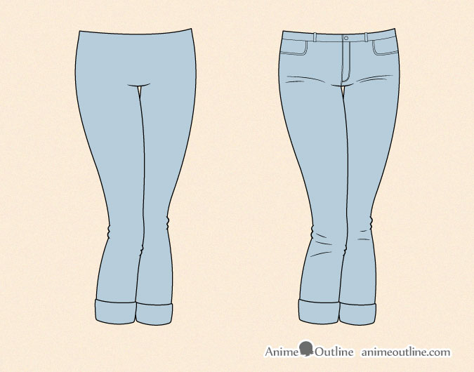 Drawing anime tight jeans