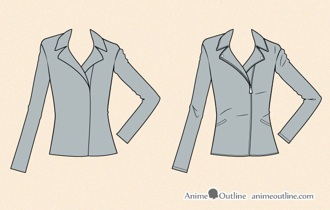 How To Draw Anime Clothes Animeoutline
